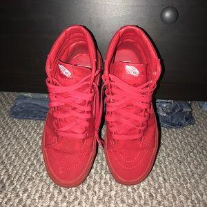 Vans Shoes - All red high top vans